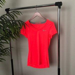Nike pro hot pink short sleeve top